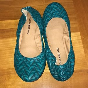 Lucky Brand leather ballet slip ons 9M